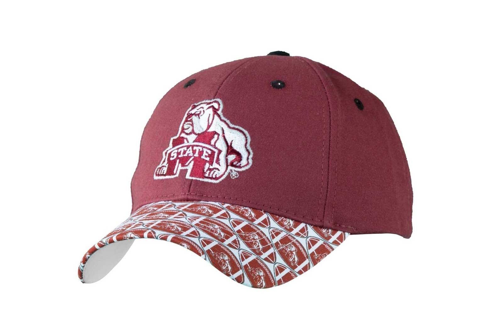 Mississippi State University Men's Adjustable Baseball Cap-Maroon