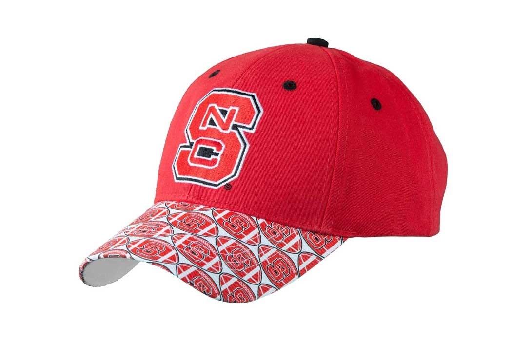 North Carolina State University Men's Adjustable Baseball Cap-Red