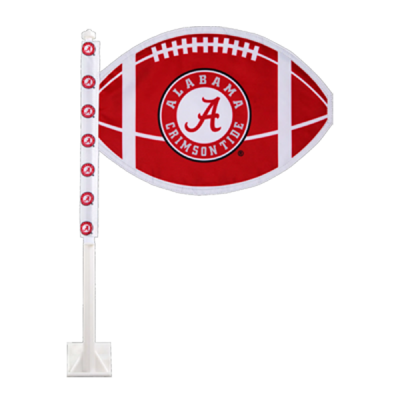 University of Alabama Football Shaped Car Flag