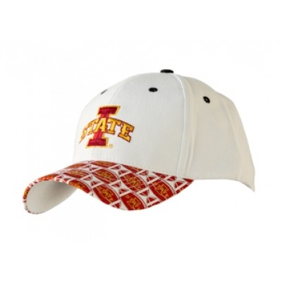 Iowa State University Men's Adjustable Baseball Cap-White