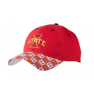Iowa State University Men's Adjustable Baseball Cap-Red