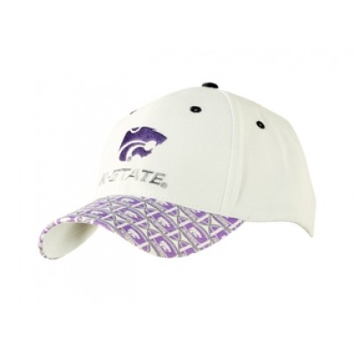 Kansas State University Men's Adjustable Baseball Cap-White