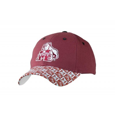 Mississippi State University Men's Adjustable Baseball Cap-Maroon