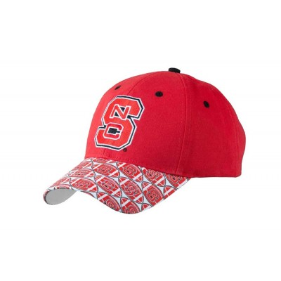 North Carolina State University Men's Adjustable Baseball Cap-Red